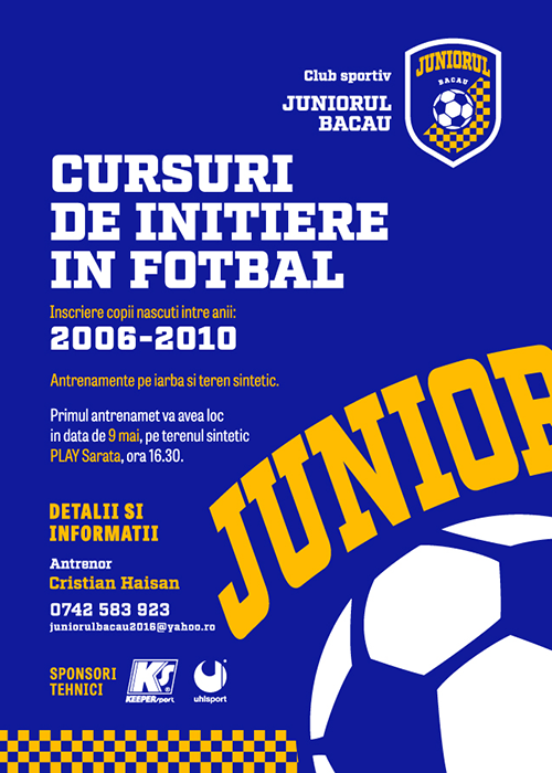 afis Club Sportiv Juniorul
