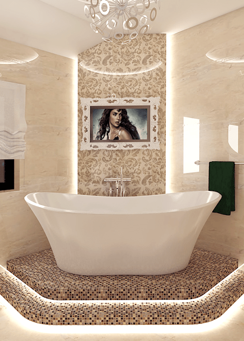 cream-colored bathroom design